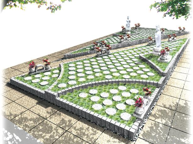 白川霊苑内 宇治浮舟樹木葬墓地の画像