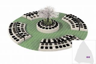 みかもメモリアルパーク蓮華葬 花弁型プレート墓碑