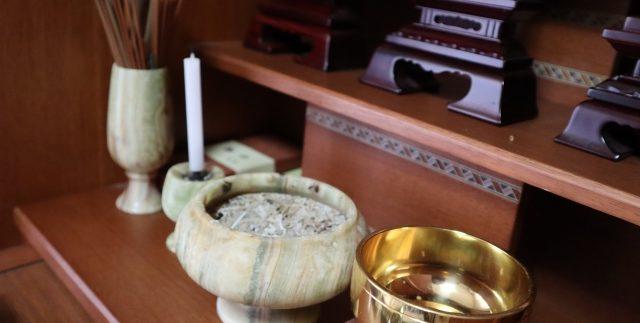 仏壇で遺骨を管理するイメージ1