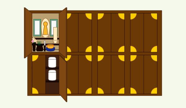 仏壇式納骨堂イラスト