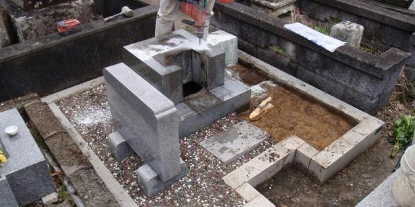 墓じまいの解体工事