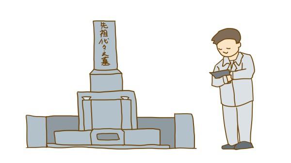 墓じまい-見積もりのイラスト