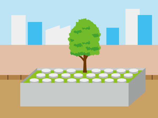 都市型樹木葬のイラスト